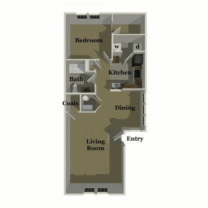Pebble Ridge One Bedroom Apt